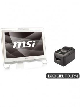 Caisse Enregistreuse Tactile Reconditionnée MSI 20 pouces Coiffure / Esthétique