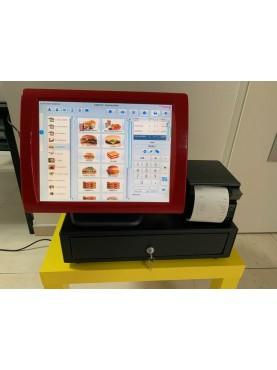 Caisse Enregistreuse Tactile Reconditionnée SAGA 15 pouces Snack / Burger