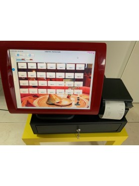 Caisse Enregistreuse Tactile Reconditionnée SAGA 15 pouces Restaurant / Brasserie