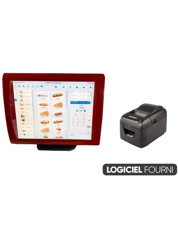 Caisse Enregistreuse Tactile Reconditionnée SAGA 15 pouces Épicerie / Commerce